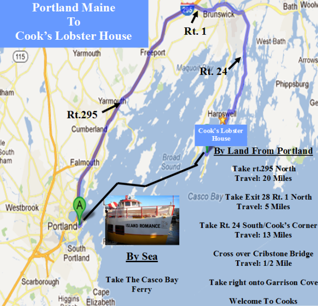 Portland Maine Cruise to Bailey Island By Land and Sea