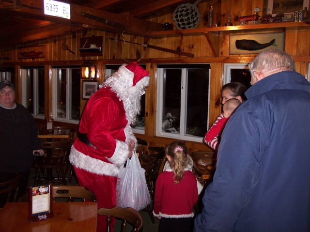 Santa Visits Cook's Lobster House Christmas Party