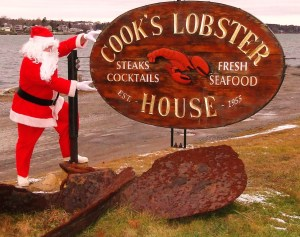 Santa at Cook's Lobster House Christmas Party
