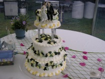 Cakes Created by Desserts By Jan located on Bailey Island in Harpswell Maine
